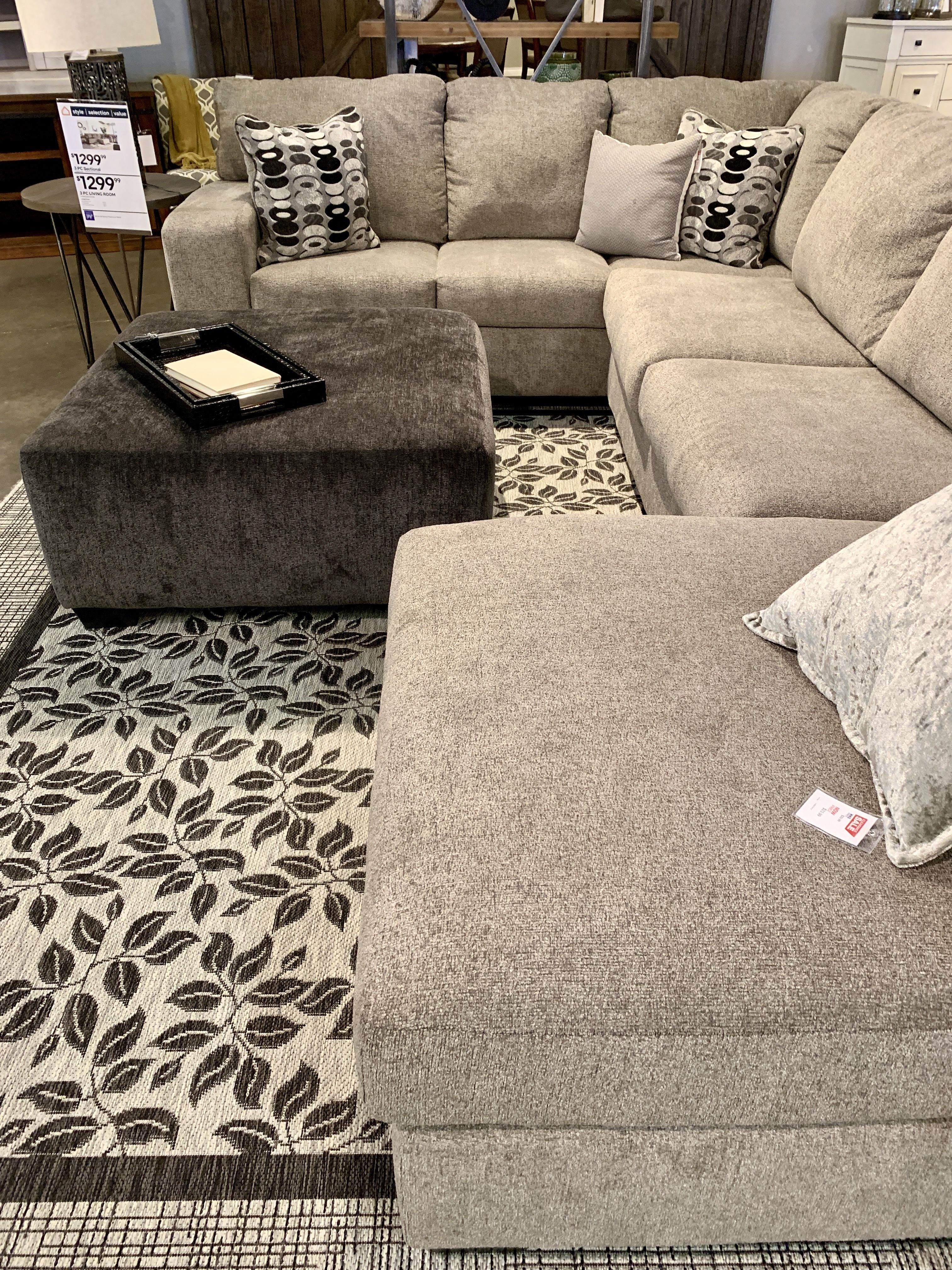Ballinasloe 3 Piece Sectional With Chaise Large Sectional Sofa