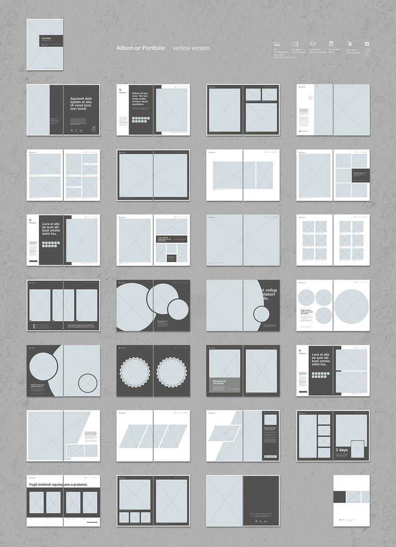 Portfolio Bundle Indesign Template   Etsy   Indesign layout ...