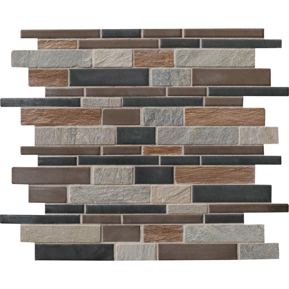 Exterior Wall Tiles Designs Indian Houses Single Floor: MSI Cobrello Interlocking 12 In. X 12 In. X 8 Mm Porcelain