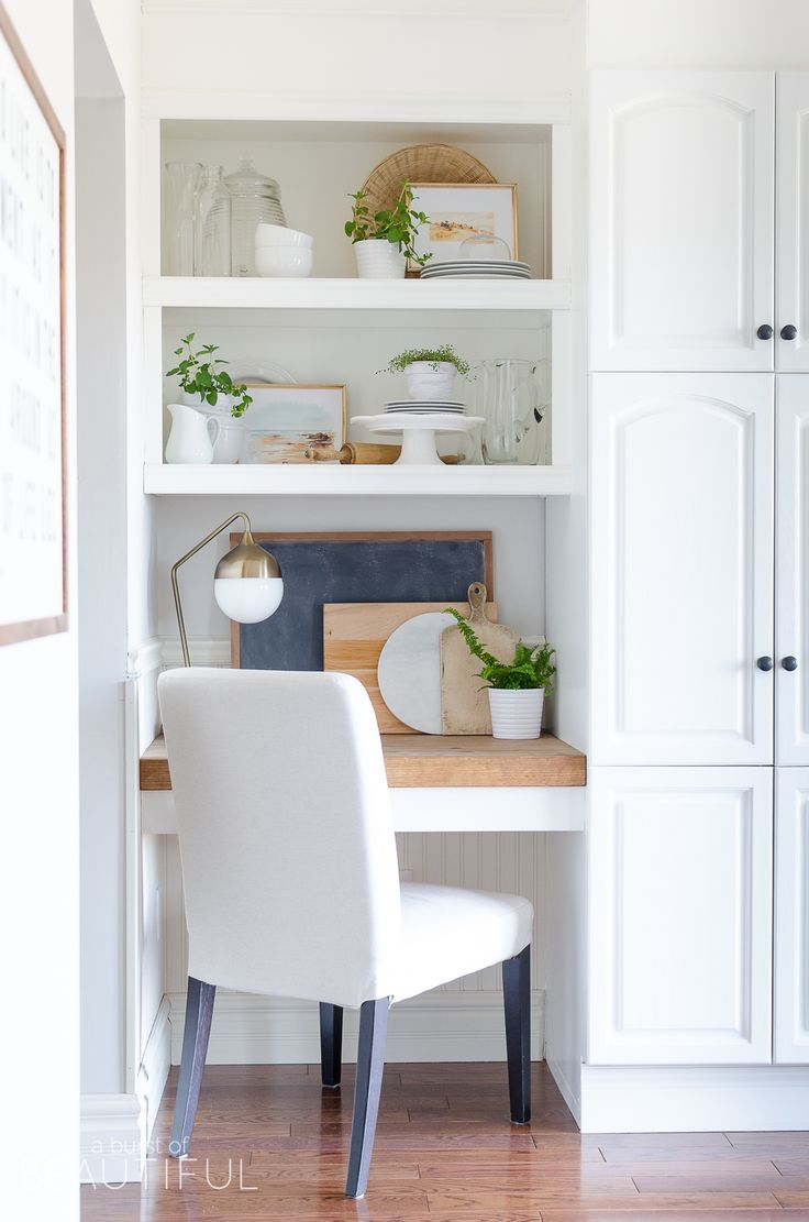 kitchen office nook. How To Style Open Shelving In The Kitchen. Kitchen Office NookKitchen Nook T