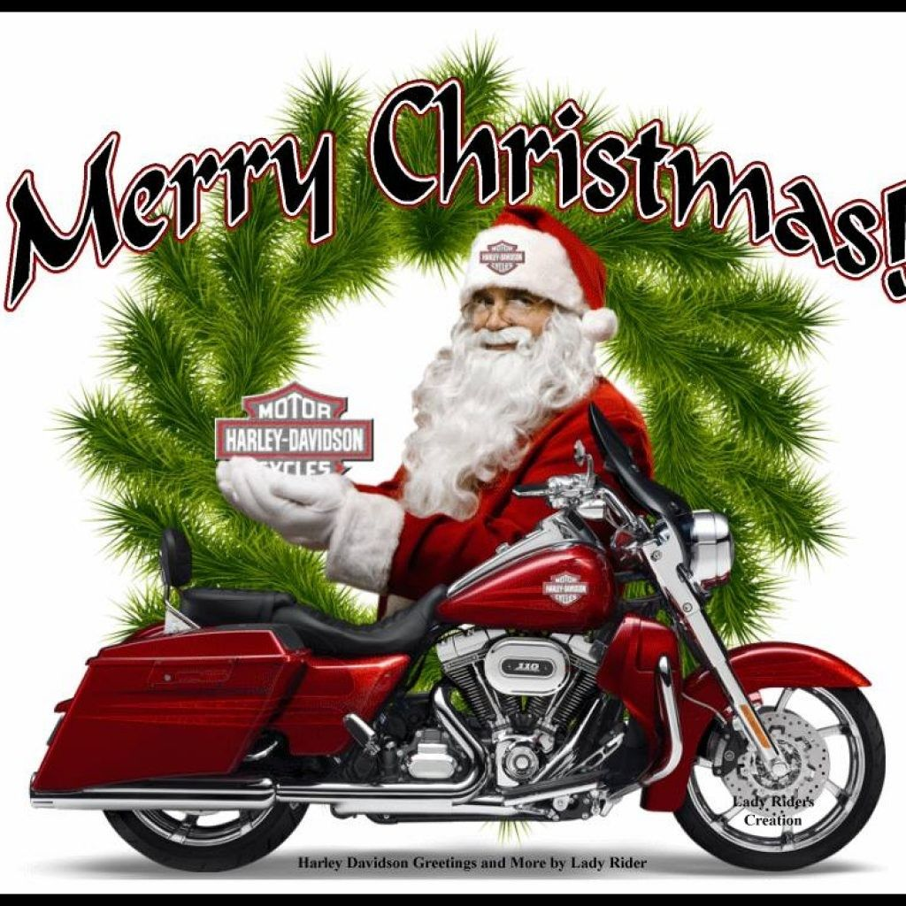 Harley Davidson Merry Christmas Images To All My Fellow Riders Be
