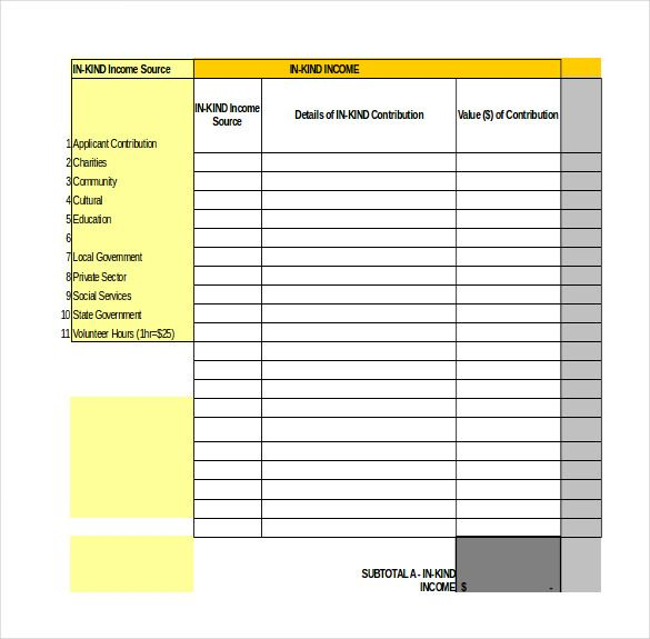 Sample Excel Budget Template   Simple Budget Template Excel