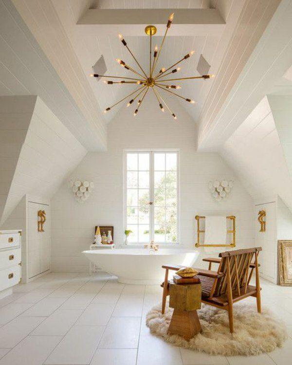 Une Salle De Bain Sous Pente Ou Sous Combles En Photos - Construire sa salle de bain