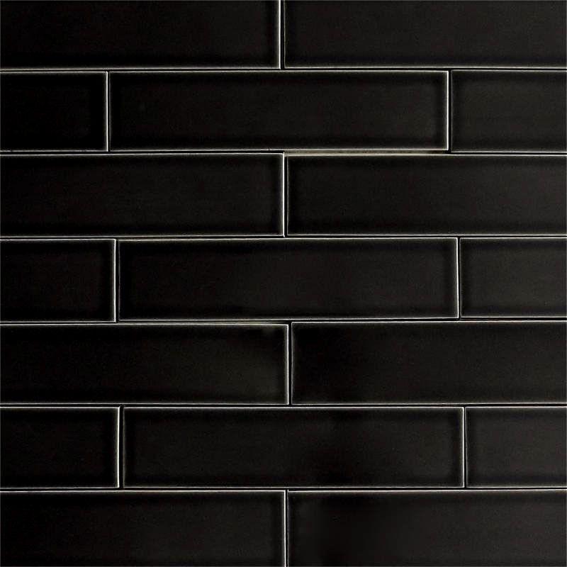 black subway tiles ceramic subway tile