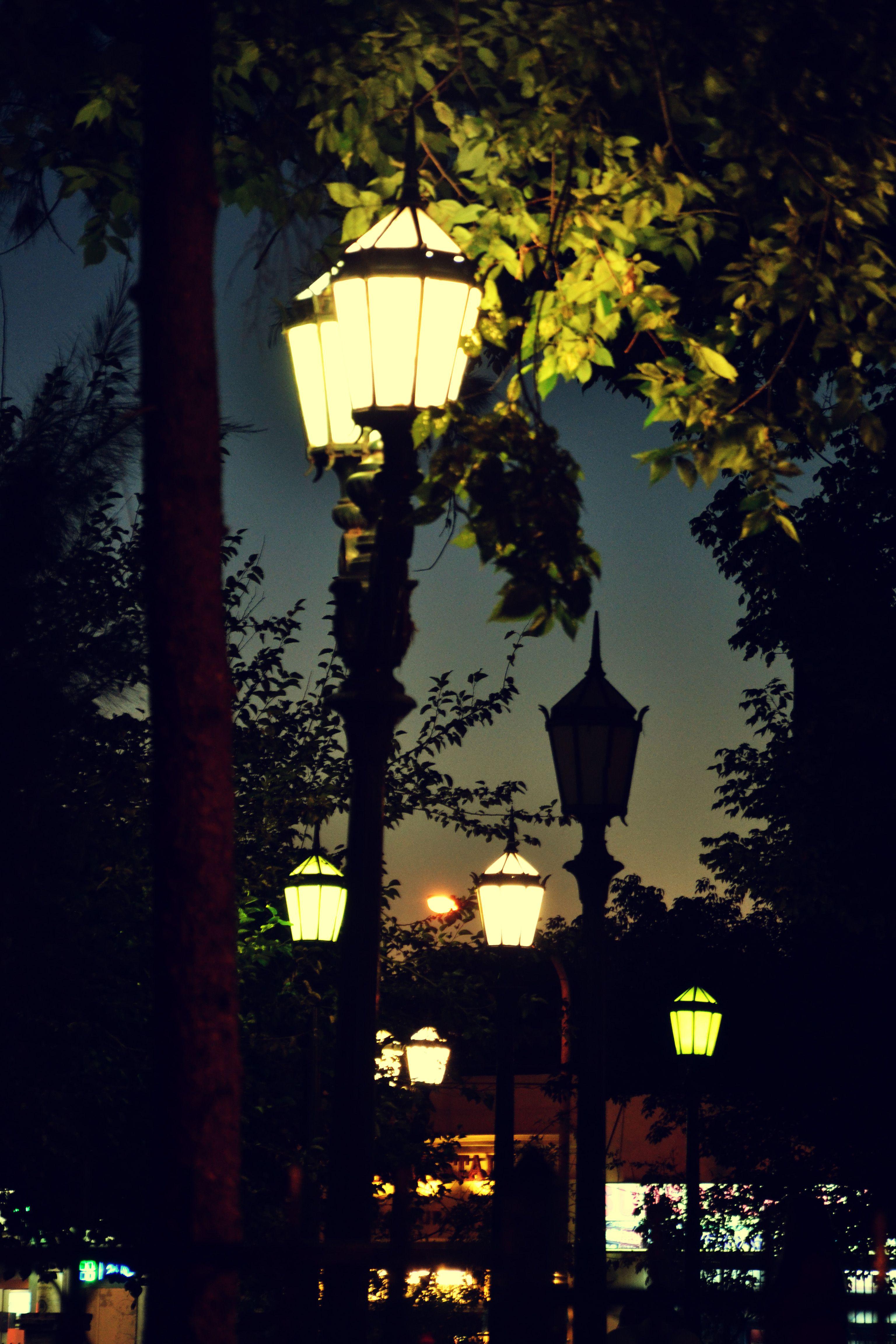 Street Lamps At Night Lamp City