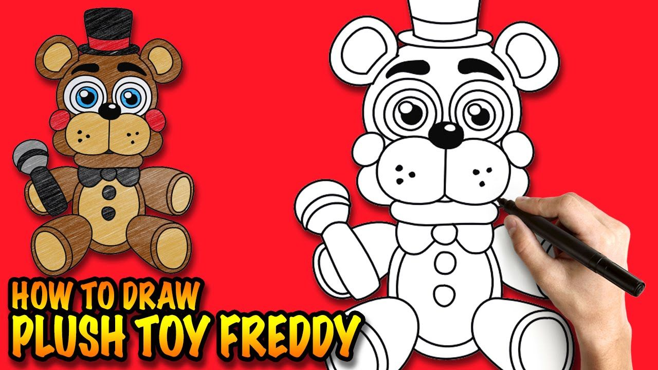 how to draw withered freddy step by step