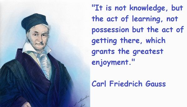 Carl Friedrich Gauss Carl Friedrich Gauss Mathematics