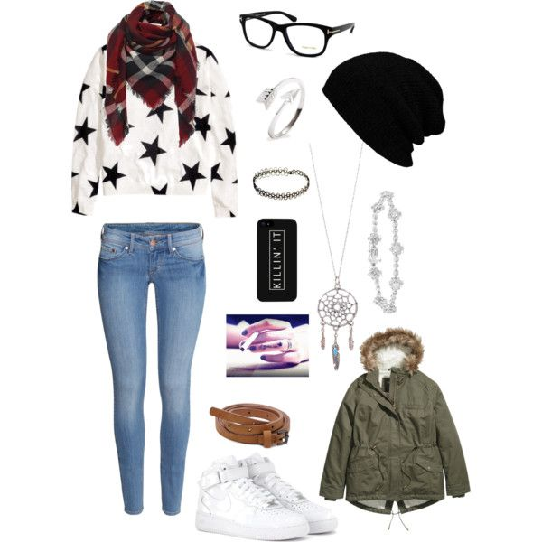 A fashion look from January 2015 featuring H&M sweaters, H&M coats and H&M jeans. Browse and shop related looks.