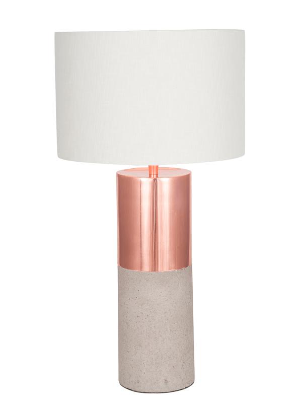 Concrete copper table lamp
