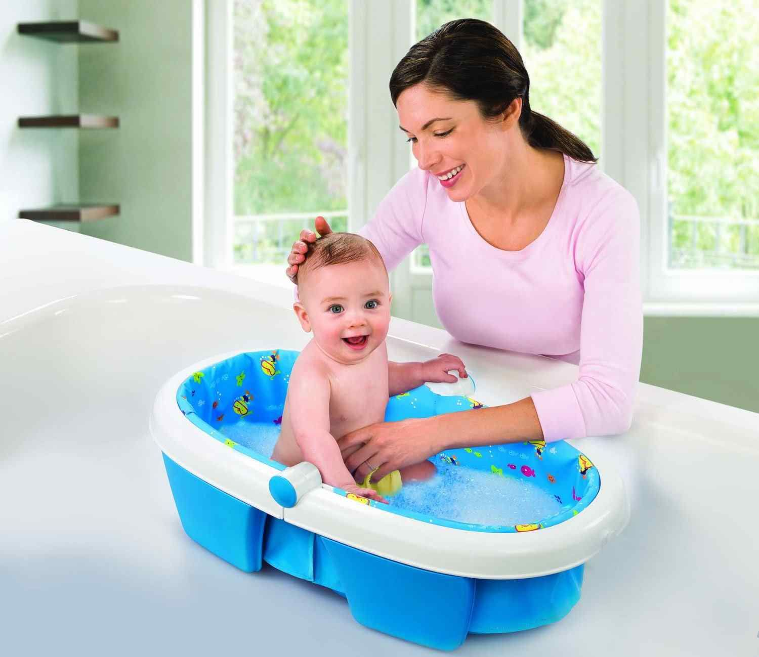 Imported Summer Infant Newborn to Toddler Fold Away Baby Bath that ...