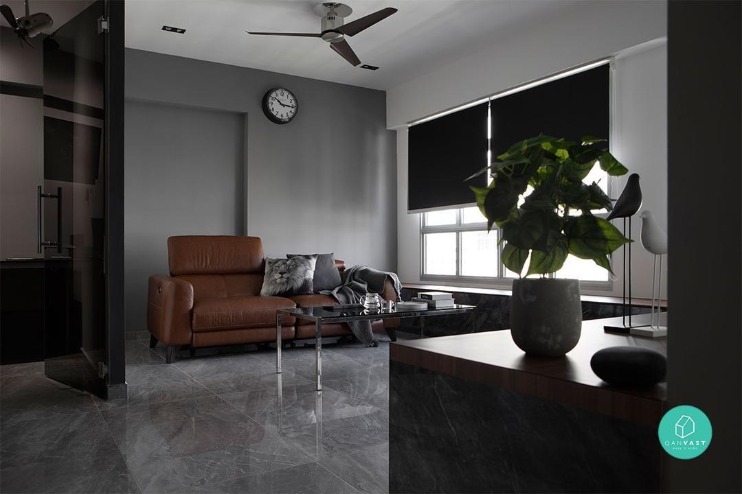 This Yishun Home Was Brought To Life Using Virtual Reality Home Monochrome Interior Yishun