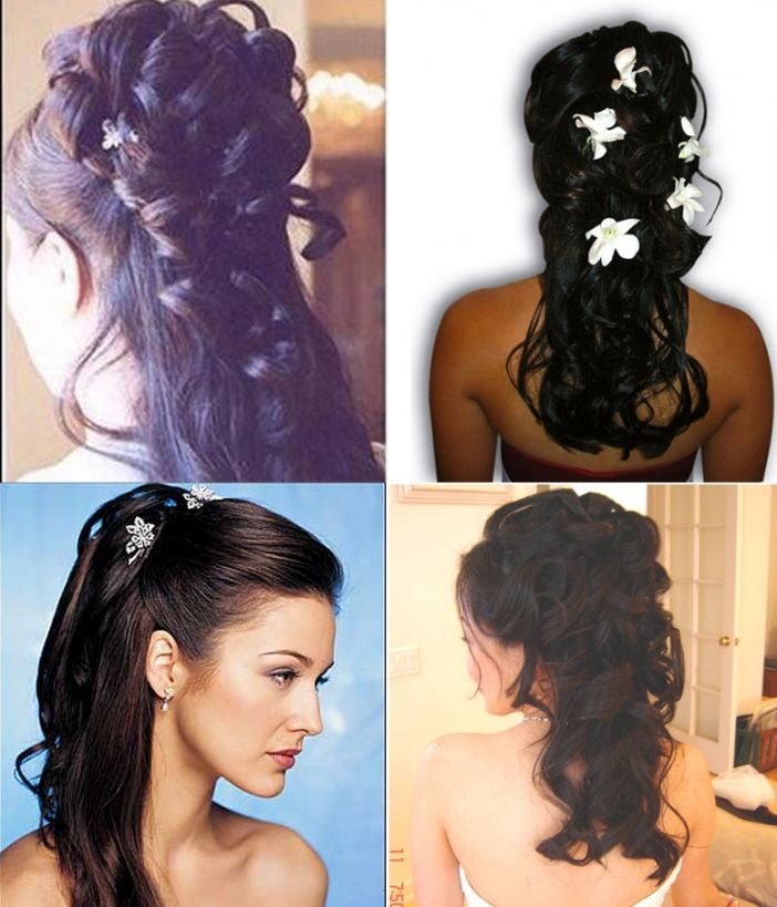 Indian Bridal Down Hairstyles