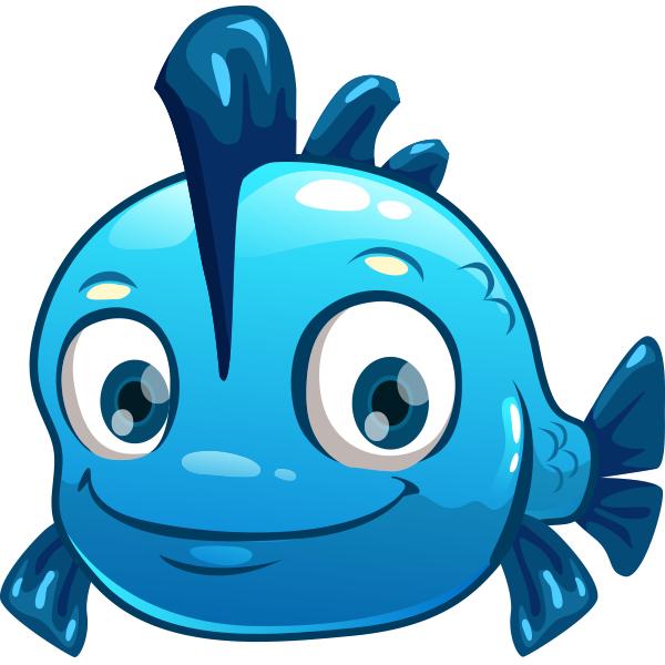 Blue Fish Cartoon Fish Animal Clipart Animal Icon