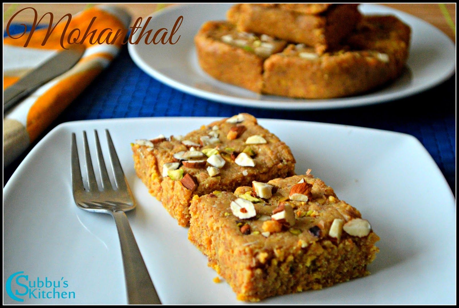 Mohanthal Is A Traditional And Common Gujarati Snack Traditionally This Yummy Sweet Is Prepared Using Mohanthal Recipe Mango Dessert Recipes Jaggery Recipes