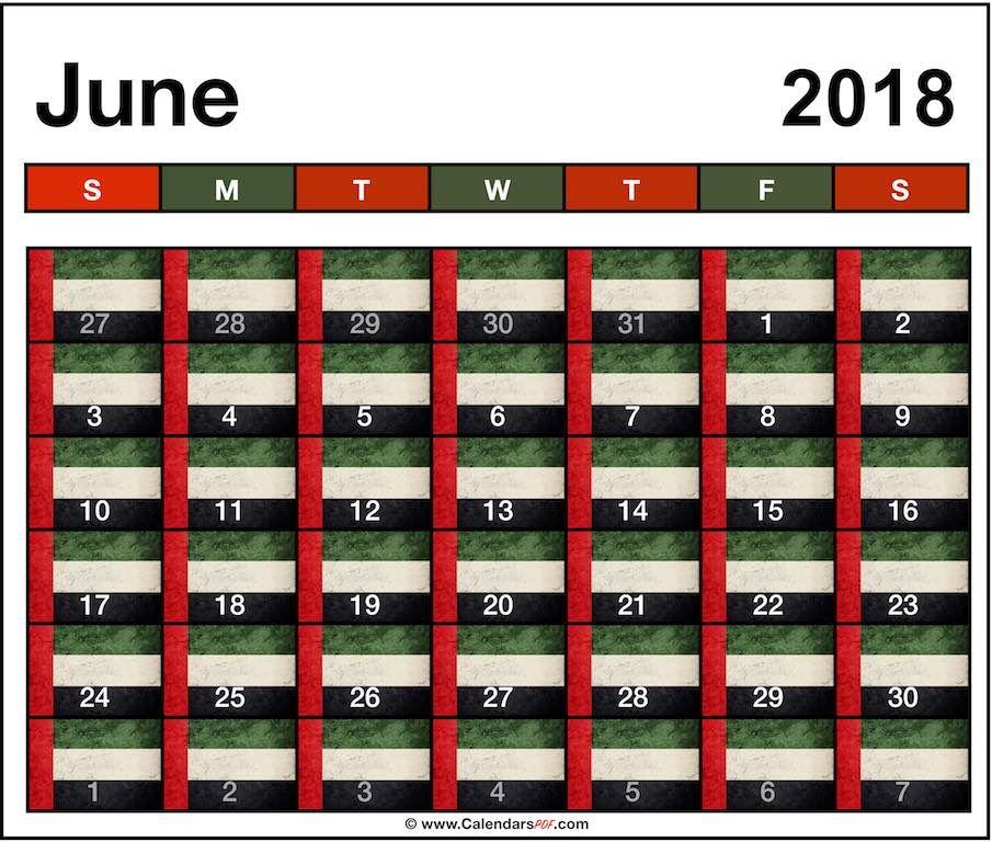edit june 2018 uae calendar