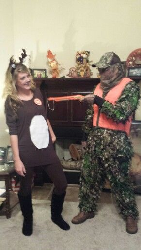 Deer and Hunter Halloween couples costume!  sc 1 st  Pinterest & Deer and Hunter Halloween couples costume! | the Holidays are here ...