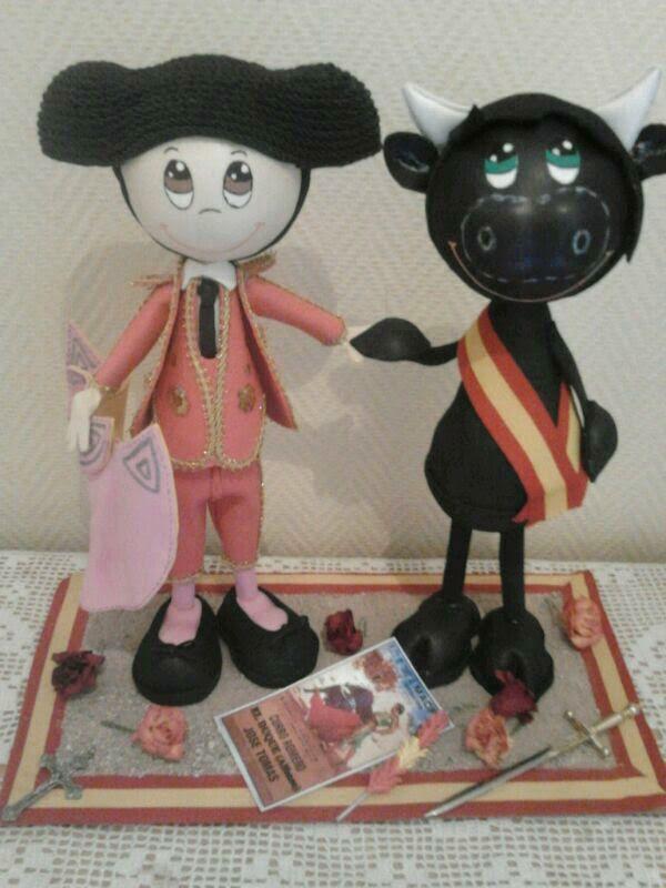 torero y toro regalo para mi hijo