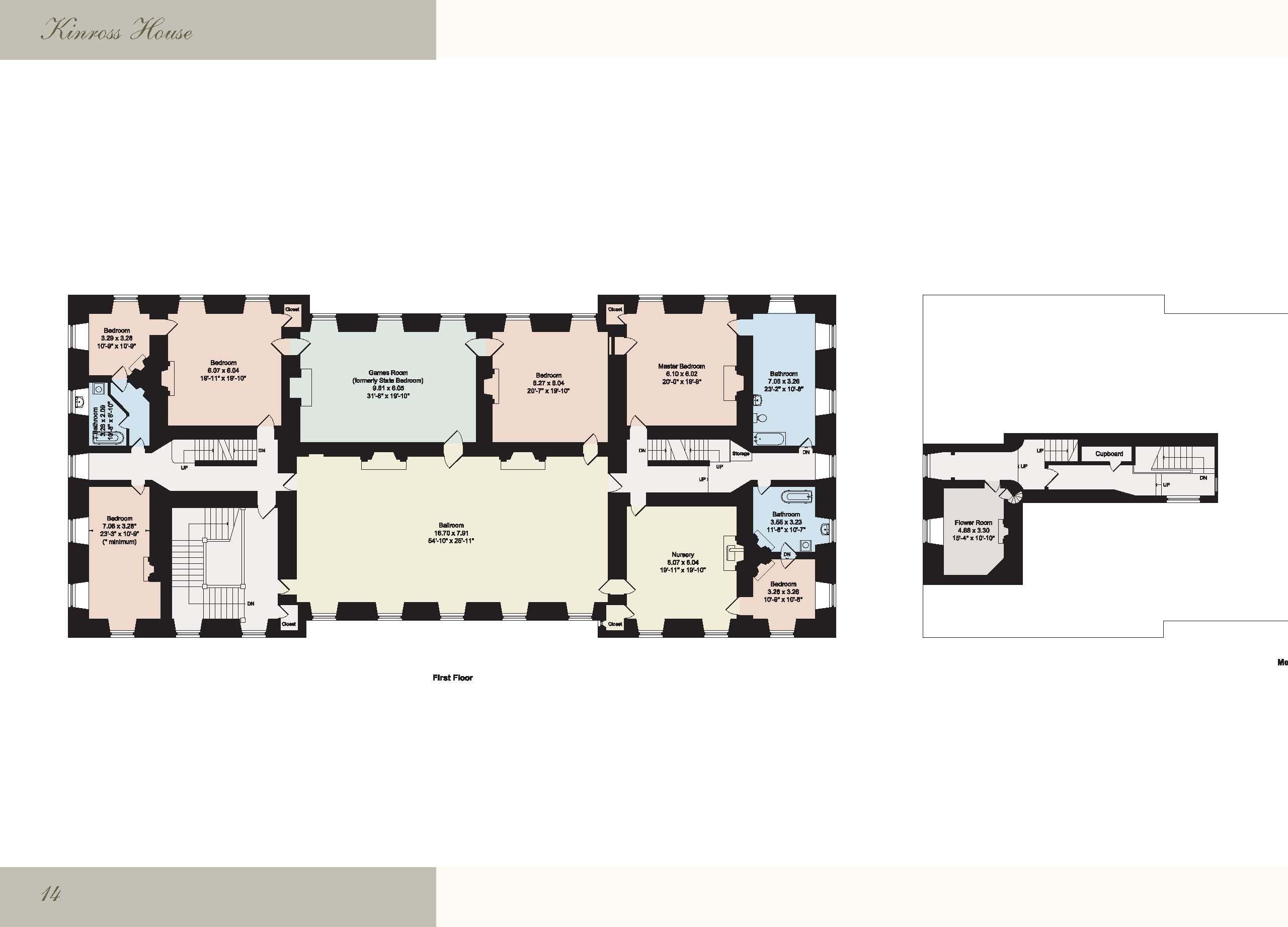 Kinross House Vintage House Plans Floor Plans Kinross