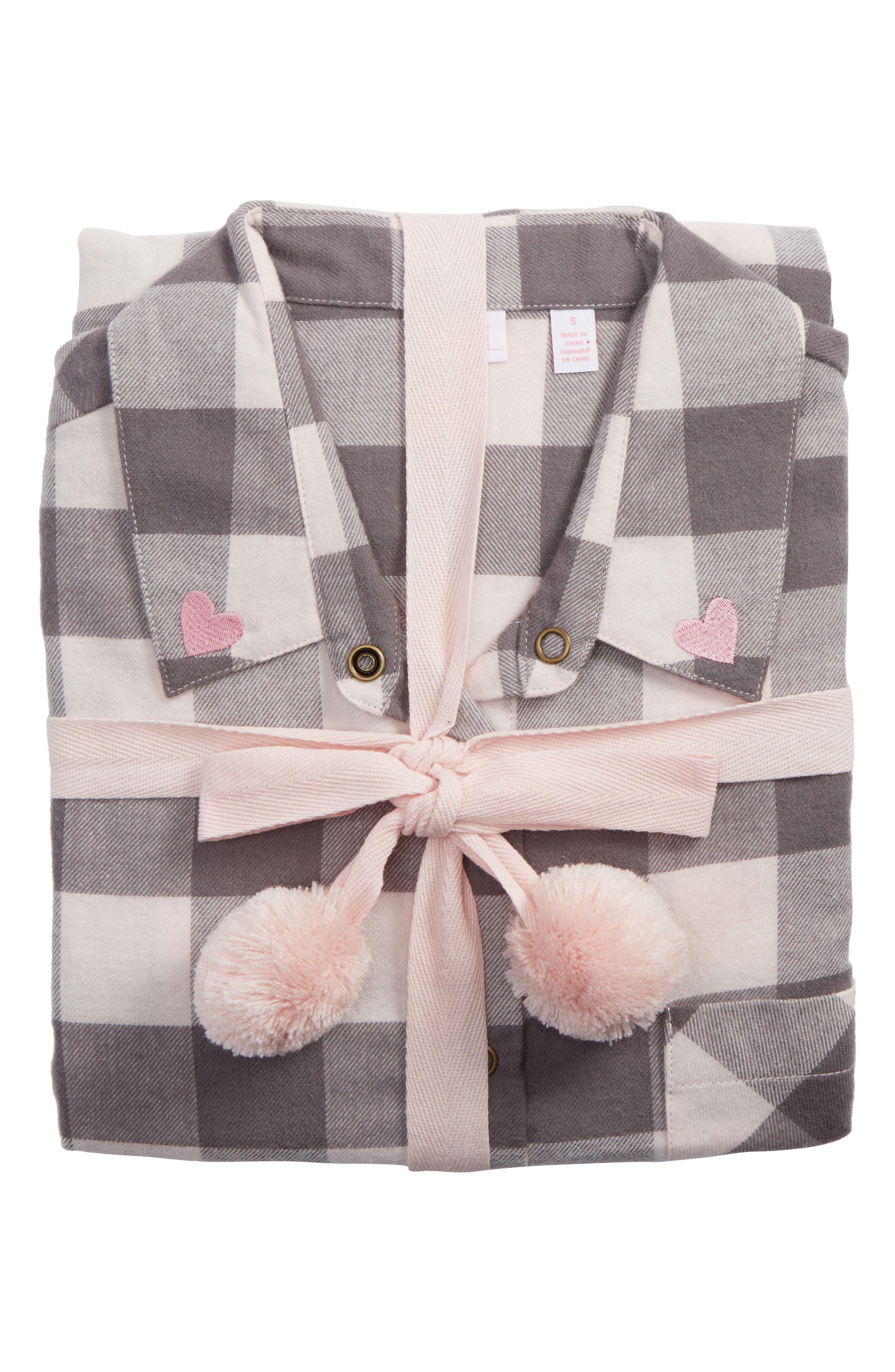 DIANA Make + Model Flannel Girlfriend Pajamas - Grey Buffalo Check Plaid dbd80e1bc
