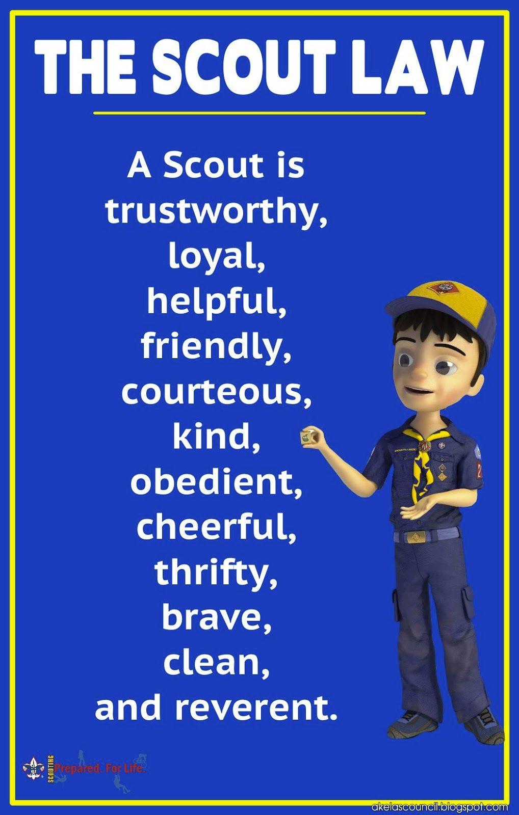 Akelas Council Cub Scout Leader Training * - Scout Law Poster ...