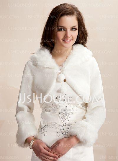 Wraps - $29.99 - Jackets/Wraps Wedding Wool Wraps With Long Sleeve (013020419) http://jjshouse.com/Jackets-Wraps-Wedding-Wool-Wraps-With-Long-Sleeve-013020419-g20419