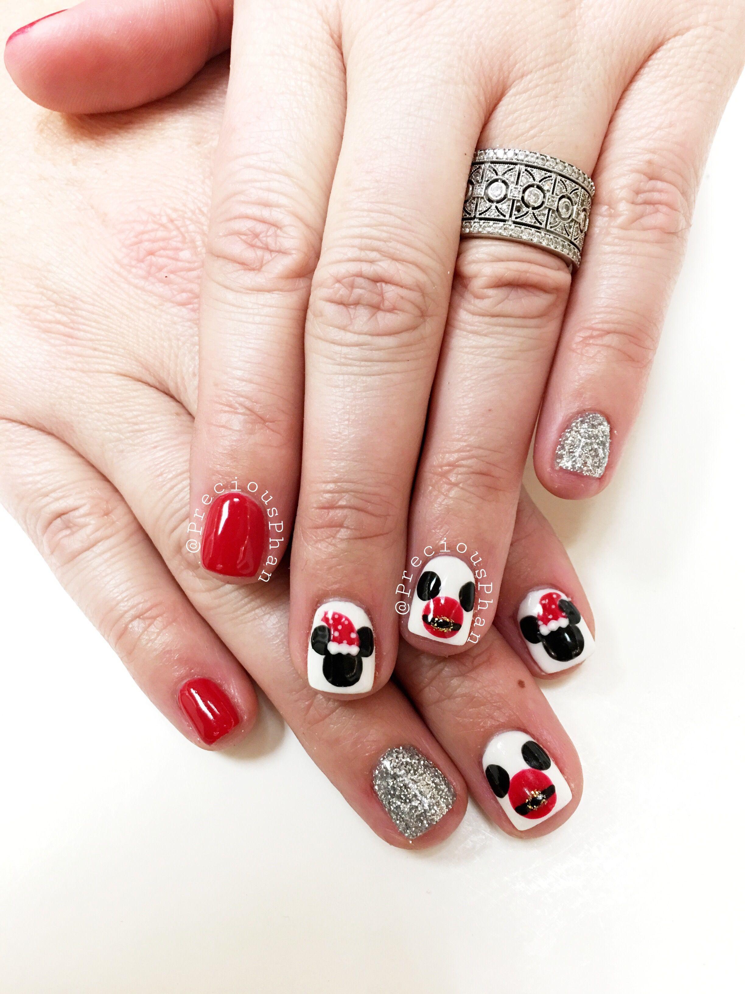 Mickey Mouse Nails Minnie Mouse Nails Christmas Nails Ornament Nails Preciousphan Mickey Nails Mickey Mouse Nails Disney Christmas Nails