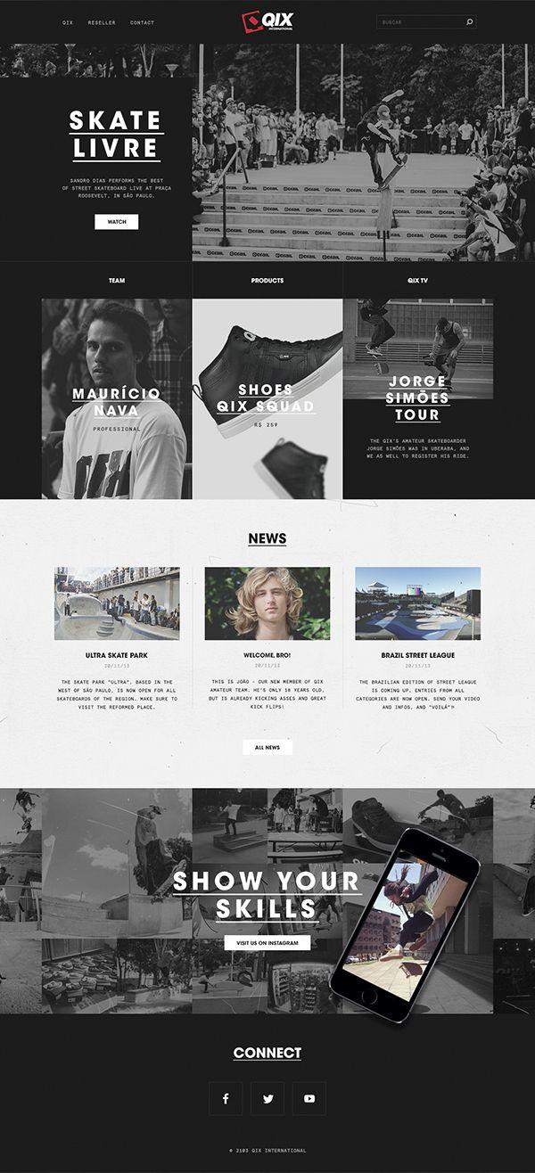 dark, #concept webdesign website skateboard skate