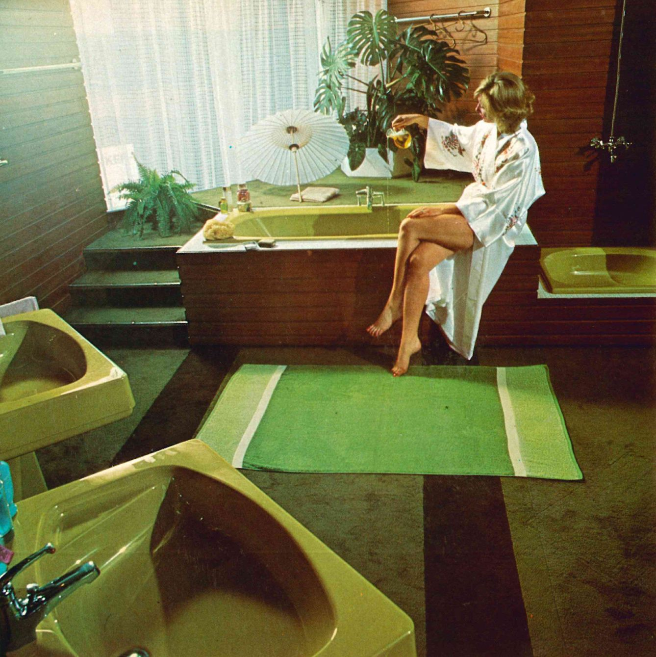 Im Farbrausch Bader Der 70er Jahre Badezimmer 70er Bad Und
