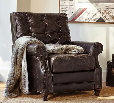 Patterson Leather Armchair Leather Occasional Chair