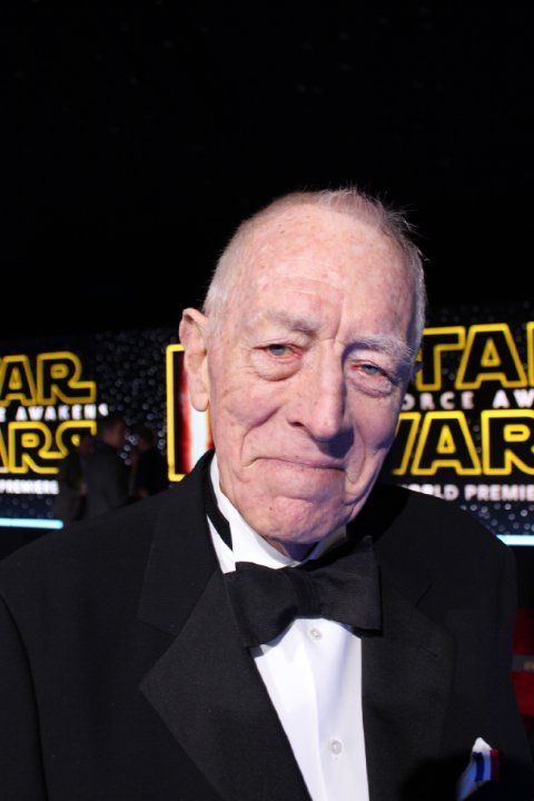 Max von Sydow at Star Wars: The Force Awakens (2015)