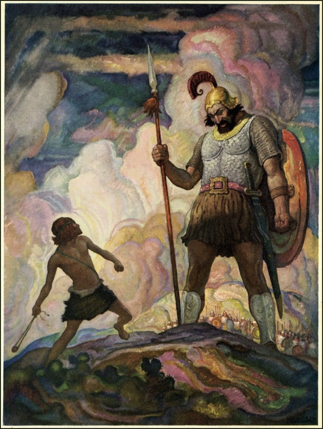 david goliath David and goliath - now the philistines gathered their forces for war and assembled at sokoh in judah they pitched camp at ephes dammim, between sokoh and azekah.