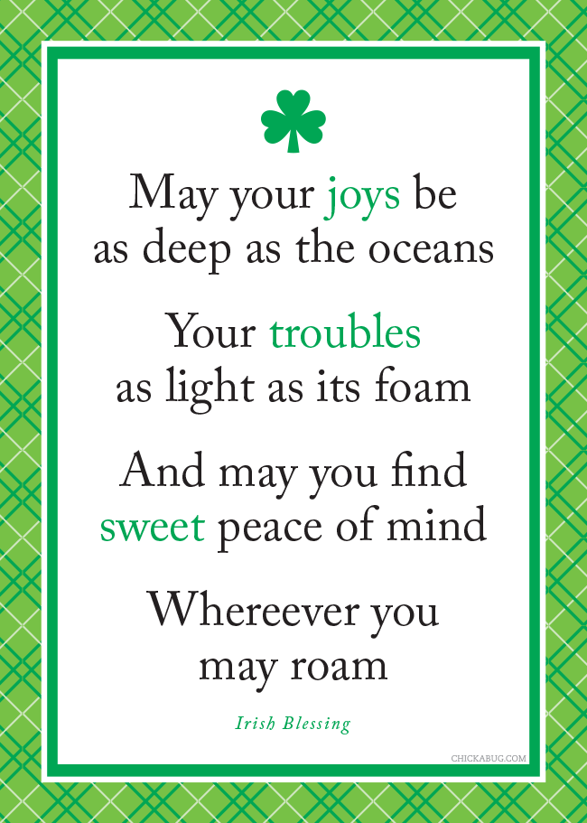 An Old Irish Blessing Gold May You Always Be Blessed Wall Art Unframed Print