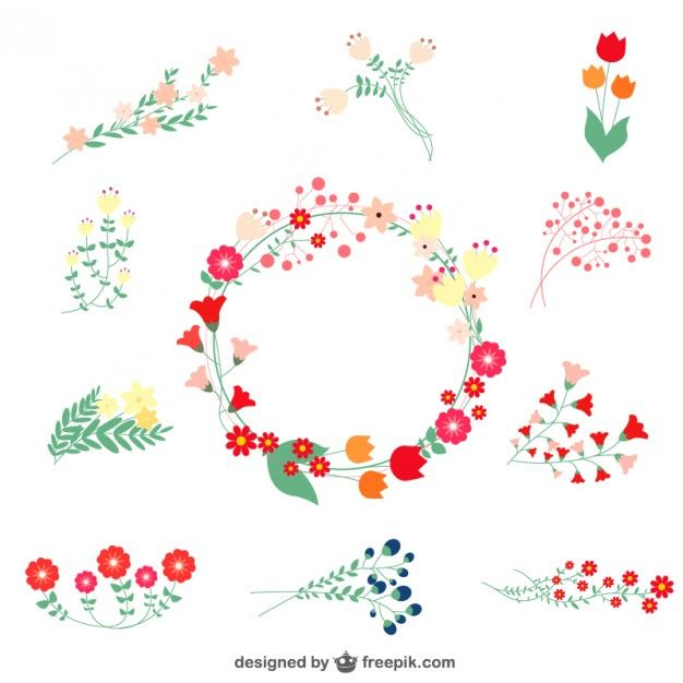 Floral free graphic elements