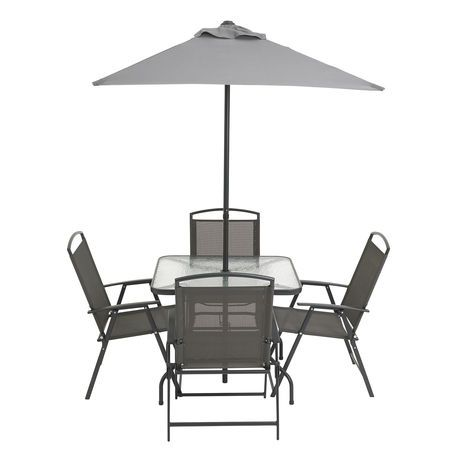 Cranston 6 Piece Sling Folding Patio Set | Walmart.ca $85