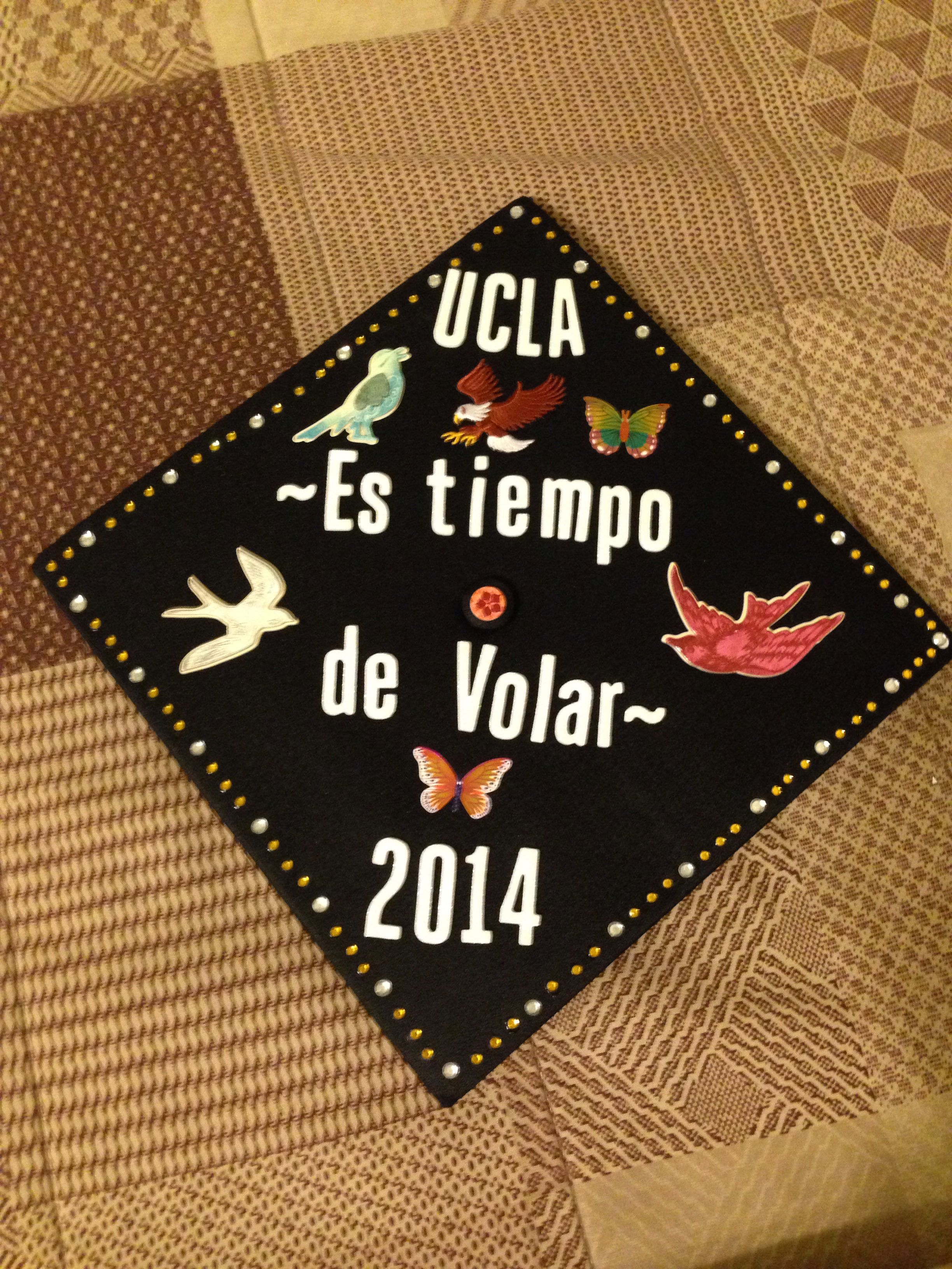 Graduation cap design #birds #timetofly #spanish | Crafty