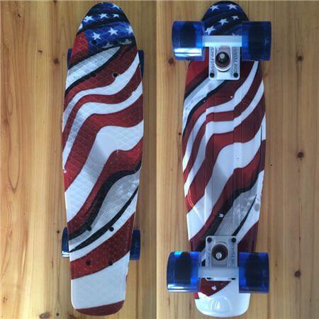 "Plastic Mini Cruiser 22"" Skateboard Retro Longboard Skate Board galaxy Graphic Girls Boys"