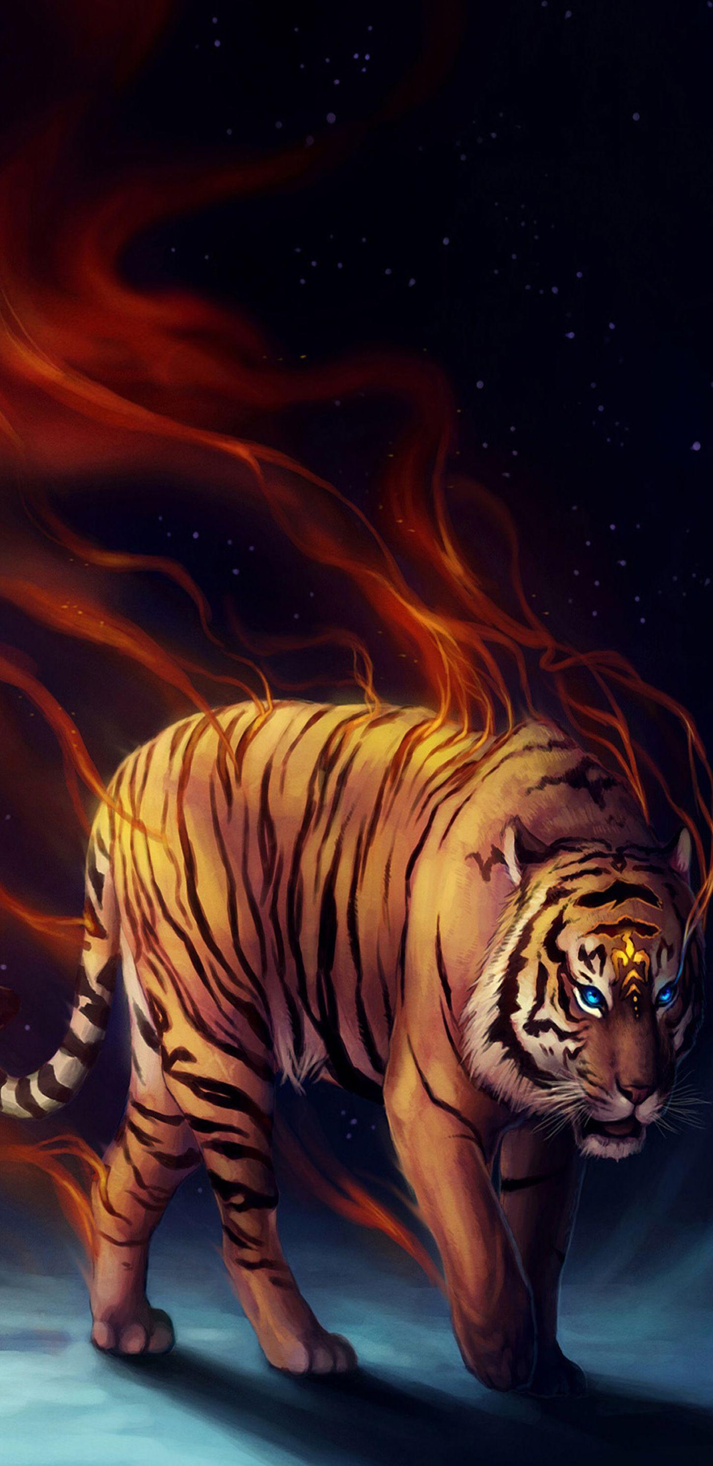 Tiger Black Red Dark Wallpaper Pattern Galaxy Colour Abstract Digital Art S8 Walls Samsung Oboi Dlya Telefona Oboi