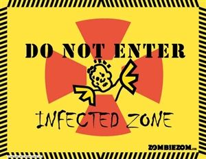 photo relating to Quarantine Sign Printable identified as cost-free printable zombie indications - zombiezom Zombie Indications and