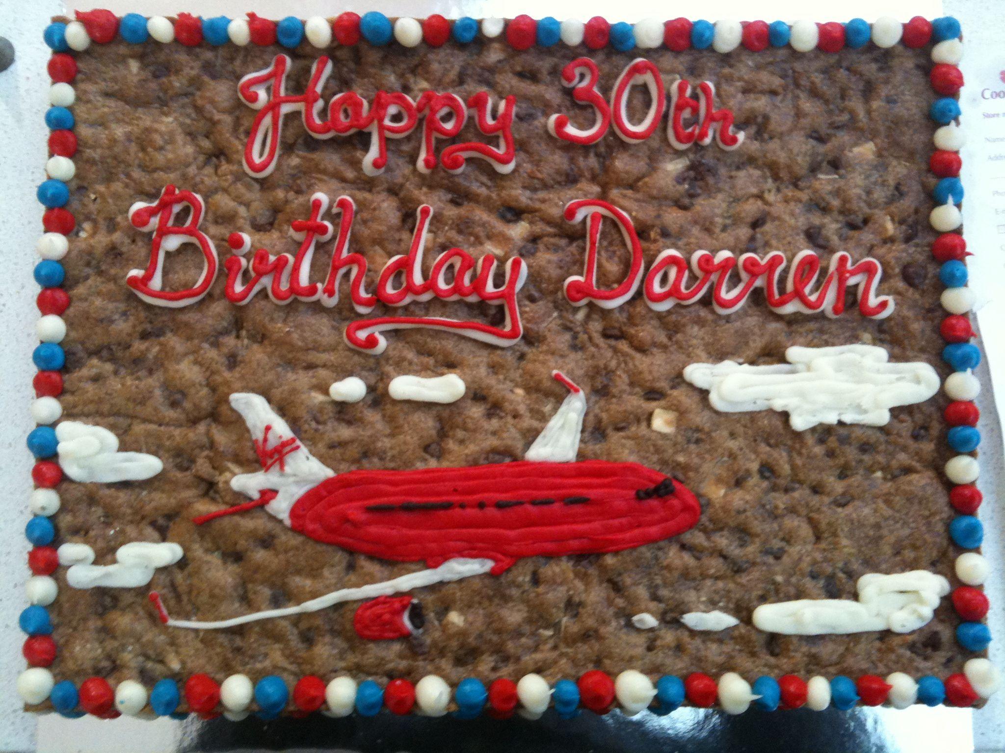 Virgin Cookie Cake Courtesy Of Mrs Fields Watergardens Cookie Cake Birthday Cookie Decorating Birthday Cookies