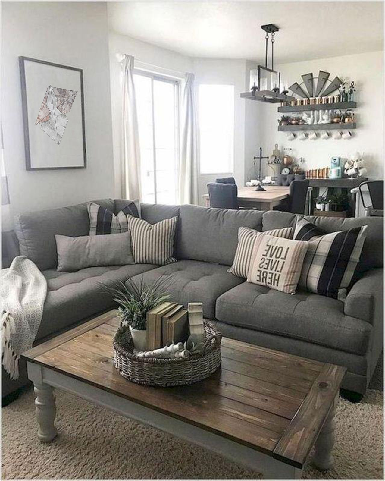 50 Inspirational Living Room Ideas in 2020 | Farmhouse decor living room,  Farmhouse living room furniture, Farm house living room