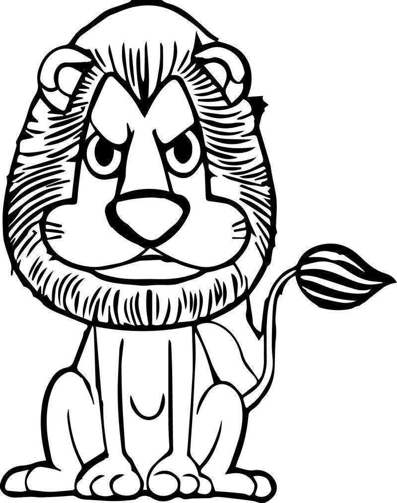 Zoo Lion Angry Coloring Page Animal Coloring Pages Cartoon Coloring Pages Coloring Pages Winter