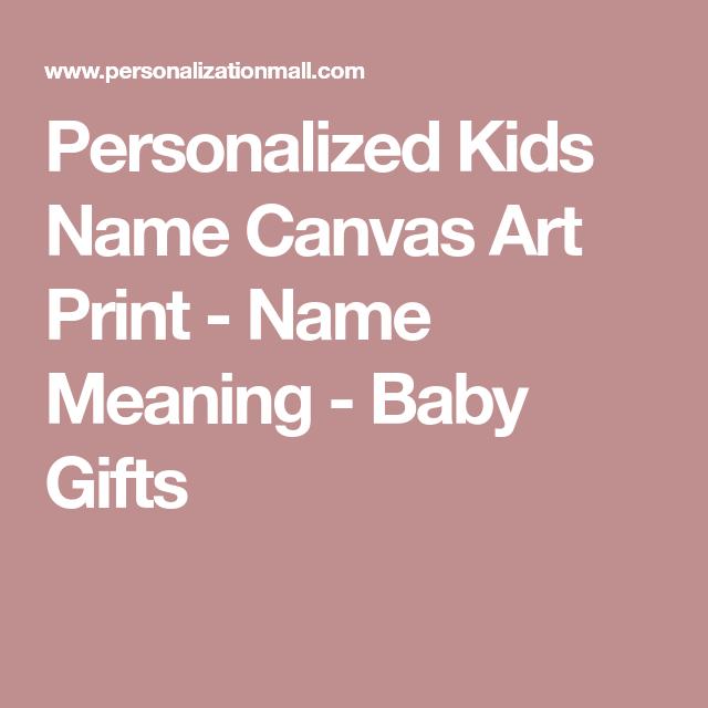 Personalized kids name canvas art print name meaning baby gifts personalized kids name canvas art print name meaning negle Images
