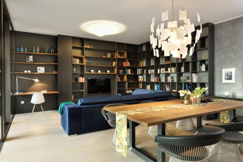 Appartement Contemporain Noir Et Bois Lofts Pinterest House