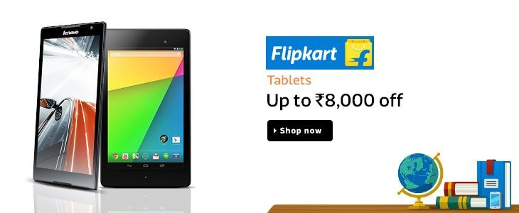 Flipkart  Tablets  Upto 8,000/- Off Goosedeals is leading destination for cashback coupons and best deals. Goosedeals offering some of the best deals and best products at very affordable prices, also our website is providing discounts with lowest prices. Grab best deals and cashback coupons More Details visit:http://goosedeals.com/stores/listing/flipkart/11.html