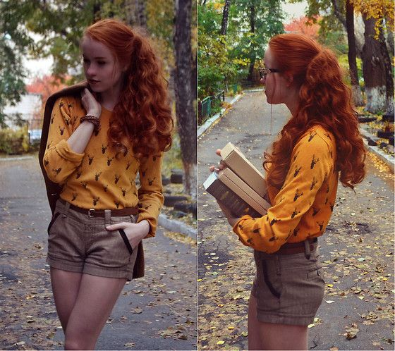 Get this look: http://lb.nu/look/7878564  More looks by Slava: http://lb.nu/user/4166122-Slava  Items in this look:  Zara, Ostin, Colins, Accessorize Leather Braslet   #bohemian #casual #romantic #ootd #autumn #streetstyle #ginger #redhead