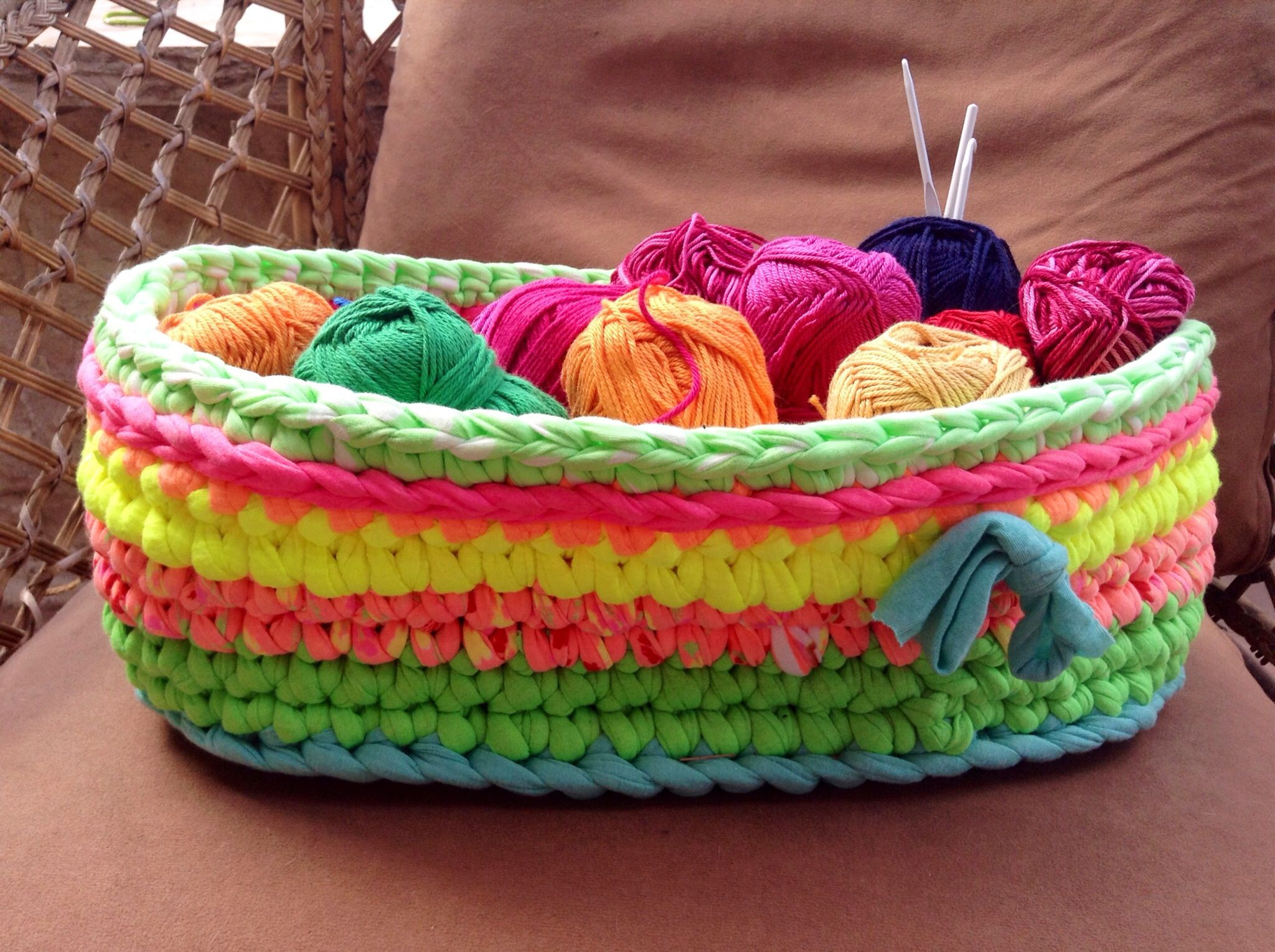 My Oval crochet baskets. Yummy (;