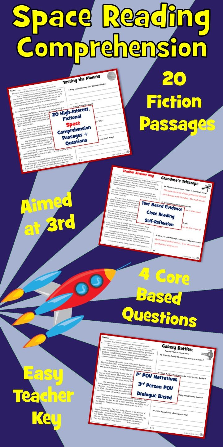 20 Fictional Space Reading Comprehension Passages Kids Love With Four Written Questi Reading Comprehension Passages Comprehension Passage Reading Comprehension [ 1440 x 720 Pixel ]