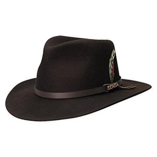 Scala Classico Men s Crushable Felt Outback Hat 4344d40e5beb