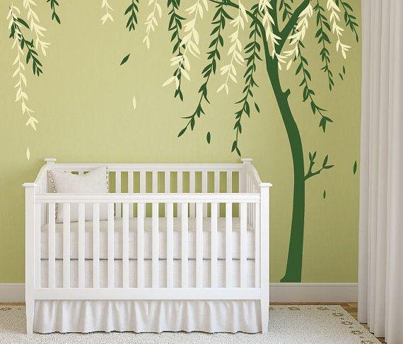 Baby Boy Nursery Ideas Stick on Wall Art Tree Decals for Walls Wall ...