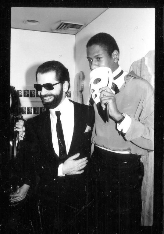 Karl Lagerfeld and Andre Leon Talley